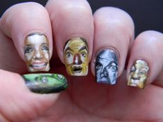 Wizard of Oz Mani look at the detail! :D So cool