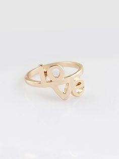 Fashion Gold LOVE Ring US$4.52