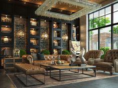 Офис в стиле лофт - 3D-проекты интерьеров в стиле лофт | PINWIN - конкурсы для архитекторов, дизайнеров, декораторов