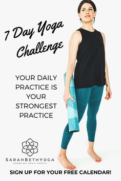 Join the 7 day yoga challenge to transform your body  mind with thoughtfully curated 15 minute free yoga videos for ALL LEVELS. Receive your 7 day calendar in your inbox and daily email with a link to the free video each day. Improve your strength, flexibility, and mental health with the benefits of yoga. This 7 day yoga challenge is suitable for beginners. #7dayyogachallenge #freeyogavideos #sarahbethyoga Morning Yoga Stretches, Morning Yoga Sequences, Morning Yoga Flow, Morning Yoga Routine, Yoga For All, Yoga For Back Pain, Yoga For Mental Health, Hip Opening Yoga, Free Yoga Videos