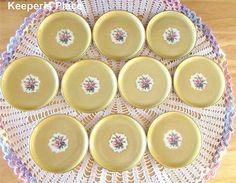 Fürstenberg Germany Coasters Gold With Flowers Porcelain Set Of 10 Rare