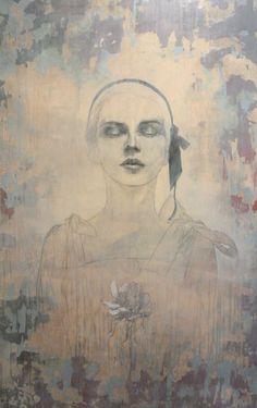 Federico Infante, Magnolia I, acrylic on canvas, 121 x 76 cm, 2015 #contemporary #art #painting