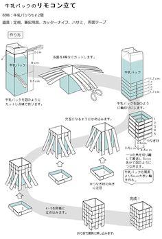 「牛乳パックのリモコン立て」記事の画像