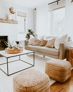 Boho Living Room, Living Room With Beige Couch, Living Room No Tv, Beige Couch Decor, Neutral Living Rooms, Rustic Modern Living Room, Living Room Apartment, Earthy Living Room, Cozy Living Rooms