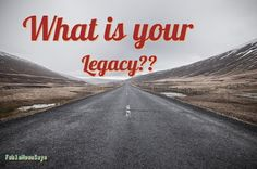 Your mark on the world is important for how people remember you. Make sure to keep it a good mark. I give tips on how http://www.fablemoonsays.com/2017/01/what-is-your-legacy.html