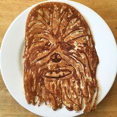 Pancake Art of Star Wars wookiee Chewbacca by Steve Hedberg
