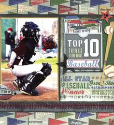 We pride ourselves on producing high-quality crafting products that help spark your inner creative fire. Baseball Scrapbook, Baseball Cards, Scrapbooking Layouts, Scrapbook Pages, Little Yellow Bicycle, Sports Page, Sketch 2, School Sports, Sports Photos