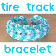 Original TutorialsByA bracelet design: Tire Track (using new Rainbow Loom Limited Edition Online-Exclusive bands in White Pearl and Gold Mint)
