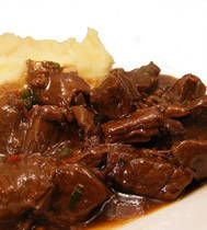Flemish beef stew, or carbonnades flamandes, is the national dish of Belgium. Hearty and satisfying, this recipe takes less than two hours to prepare, and is nice enough to serve for a sit-down family meal. Add a crisp green salad, roasted potatoes, and a bottle of wine for a spectacular feast worthy of an upscale auberge du terroir on a chilly evening.