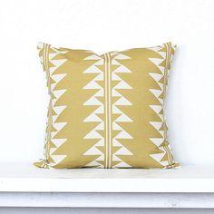Arrow Lines Pillow Cover  Honey Combo