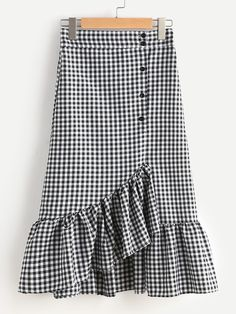 SheIn offers Gingham Layered Frill Hem Skirt & more to fit your fashionable needs. SheIn offers Gingham Layered Frill Hem Skirt & more to fit your fashionable needs. Boho Outfits, Skirt Outfits, Outfits For Teens, Casual Outfits, Cute Outfits, Fashion Outfits, Women's Fashion, Frill Skirts, Ruffle Skirt