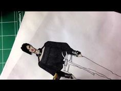 GIANFRANCO FERRE.F'13.Angora.Wool.Leather Shoes.- Fashion Drawing