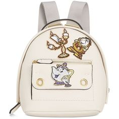 Disney By Danielle Nicole Mila Mini Beauty And The Beast Backpack with... ($88) ❤ liked on Polyvore featuring bags, backpacks, bone, vegan leather bags, rucksack bags, miniature backpack, white faux leather backpack and vegan backpack