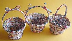 Paper Basket Making - Handmade Paper Crafts in Amma Arts - Watch Video Crafts To Do, Diy Crafts, Paper Basket Weaving, Paper Art, Paper Crafts, Basket Crafts, Art Watch, Paper Quilling, Origami Paper