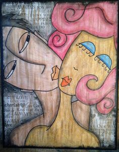 SOLD Mixed Media Paper Collage 11x14 Canvas