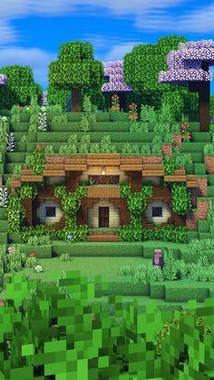 Minecraft House Plans, Minecraft Cottage, Cute Minecraft Houses, Minecraft House Tutorials, Minecraft Videos, Minecraft House Designs, Amazing Minecraft, Minecraft Tutorial, Minecraft Blueprints