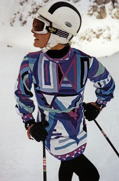 20th Century (Sixties): Prints on ski-wear