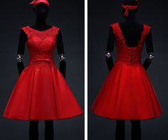 Awesome Great Fashion Red lace formal short evening dress dinner party wedding bridesmaid (S) 2018 Bridesmaid Outfit, Blue Bridesmaid Dresses, Wedding Bridesmaids, Homecoming Dresses, Formal Shorts, Engagement Dresses, Evening Dresses, Formal Dresses, Winter Formal