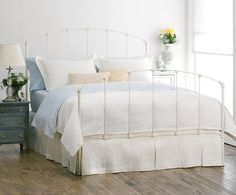 image result for white iron queen bed frame - Iron Queen Bed Frame