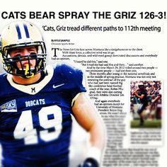Just got back from the future.This is tomorrows Bozeman Daily Chronicle sports headline! Montana State University, Sports Headlines, Denial, Football Helmets, Future, Future Tense