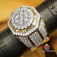 3.50 Ct Lab Diamond Engagement Pinky Ring Mens Yellow Gold Over Round Cut Band #Affordablebridaljewelry #MensWeddingBandRing