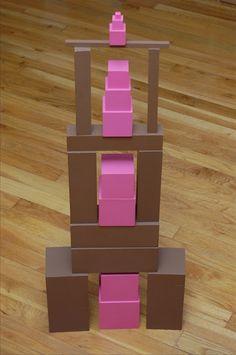 Free Pink Tower/Brown Stair Extensions, Part 2 Maria Montessori, Montessori Kindergarten, Montessori Education, Montessori Classroom, Montessori Toddler, Montessori Activities, Preschool, Dinosaur Activities, Classroom Ideas
