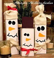 diy 2 x 4 snowmen