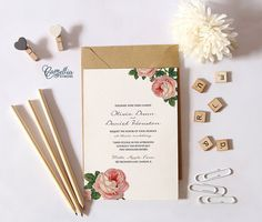 Printable Wedding Invitation Suite  Rustic Vintage Wedding