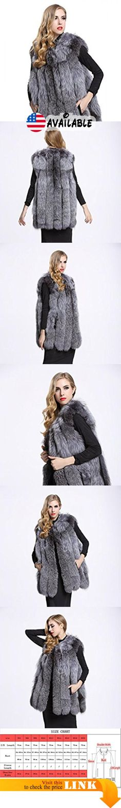 "B01IUR7MZA : TOPFUR Women's Natural Fox Fur Vests Fashion Silver Fur Waistcoat(XL). Made from high quality and soft Genuine Knitted rabbit fur external which feels cozy on the skin and comfortable to wear.. Available sizes and colors of stylish fox fur vest excellently fit well with your demand. Length:29.53""(75cm). Elegant Bar with handsome slant pockets design look stereoscopic and gorgeous as the model shows when wearing this noble and fashion fur coat Suitable for any"