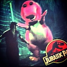 Barney in jurrasic park!!