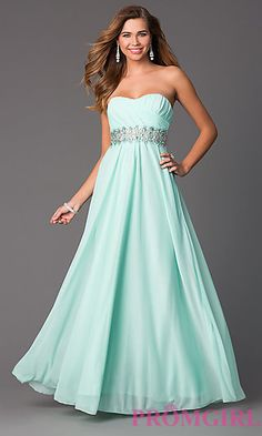 Found my prom dress now to get rid of my other one Strapless Sweetheart Floor Length Dress by Sequin Hearts at PromGirl.com