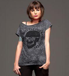 Reverbcity Shop - Camisetas/T-shirts Caveira - Cinza