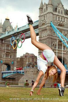 Rhythmic gymnastics photoshoot