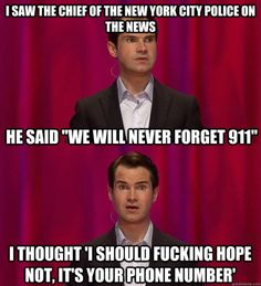 Jimmy Carr remembers 9/11 via /r/funny...