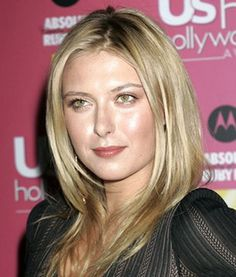 Maria Sharapova Long Length Hairstyles