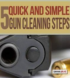 firearms, firearm maintenance, how to clean a gun, gun cleaning tips