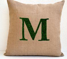 Customized Sequin Monogram decorative pillow