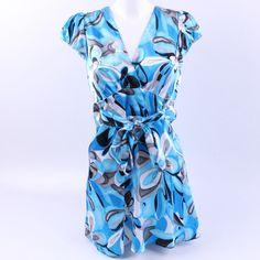 Dámské šaty Ce Me modré se vzory Wrap Dress, Dresses, Fashion, Vestidos, Moda, Fashion Styles, Dress, Fashion Illustrations, Gown