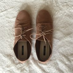 forever 21 oxford shoes tan suede oxford shoes, light wear, price is flexible! Forever 21 Shoes