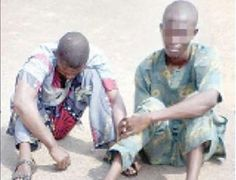 See Faces of Men Who Rob & Rápe A Woman Inside Mosque (Photo)   Two night watchmen in an Ibadan filling station paraded by Oyo State Police Command confessed to have rped a stranded woman inside a mosque after dispossessing her of her personal effects.  While parading the suspects Olajide Olakanmi and Olanrewaju Taiwo the Commissioner of Police Mr. Sam Adegbuyi said they also robbed the stranded woman of her money and property.  Adegbuyi said: On February 1 at about 1a.m. two night guards…