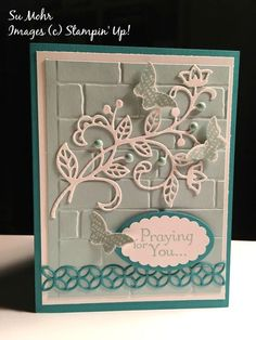 Pals Paper Crafting Card Ideas Su Mohr Mary Fish Flourish thinlit, Stampin Pretty StampinUp