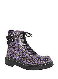 HOTTOPIC.COM - Anarchic By T.U.K. Purple Kiss Boot