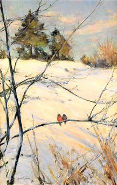 Winterbirds  Karl Nordstrom - Winter Scene from Skansen  1890