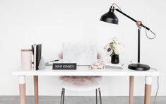 Blush and Black Feminine Styled Stock Photos — Haute Stock Blush, Desk Fan, New Job, Spring Cleaning, Personal Branding, Tricks, Branding Design, Table Lamp, Stock Photos
