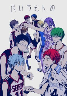 Touya (Artist), Kuroko no Basket, Aida Riko, Akashi Seijuurou, Aomine Daiki, Hyuuga Junpei, Kagami Taiga, Kise Ryouta, Kiyoshi Teppei, Kuroko Tetsuya, Midorima Shintarou,  Murasakibara Atsushi,Rakuzan Basketball Uniform,Shuutoku Basketball Uniform, Kaijou Basketball Uniform, Seirin Basketball Uniform, Touou Basketball Uniform, Yousen Basketball Uniform, Kaijou High, Kiseki no Sedai, Rakuzan High, Seirin High, Shuutoku High, Touou High, Yousen High