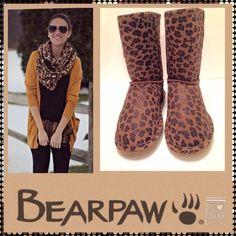 "BEAR PAW NWT Leopard Print Boots, Size 8 Brand new with tags, Bear Paw leopard print boots, size 8.  They measure 10"" high.  No box. Bearpaw Shoes Winter & Rain Boots"