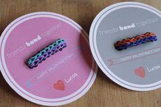 "Free Printable: Friendship Bracelet Valentine's Day Cards - ""Friends BAND Together"""