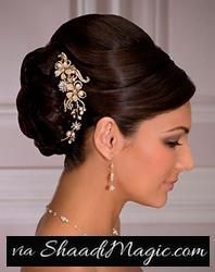 Bun on the Side Hairstyle  Yet another variation of the traditional Indian wedding hairstyle comes in the form of 'bun on the side' hairstyle.