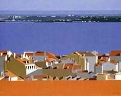 Lisboa XXX, 1985 Maluda (Goa, 1934 – 1999) [Maria de Lourdes Ribeiro] óleo sobre tela, 75 x 92 cm Coleção Particular