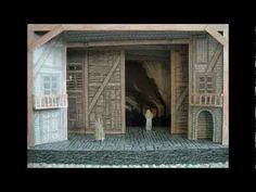 Paper Model of Les Misérables the Musical (National Tour Stage Set Design) Les Miserables, Stage Set Design, Set Design Theatre, Les Mis Broadway, Scenic Design, Vintage Circus, Dark Fantasy Art, Paper Models, Design Reference